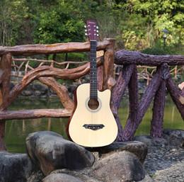 cordes de piano Promotion Factory 38 pouces acoustique guitare cordes en métal bouton Basswood novice débutant pratique piano couleur bois