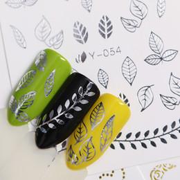 2019 pegatinas de mariposa de oro 3D Nail Art Stickers Silver Gold Flower Butterfly Animal Cute Patrones mixtos Diseño DIY Adhesive Tips Transfer Stickers rebajas pegatinas de mariposa de oro
