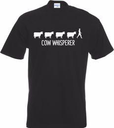 2019 Marca de Moda dos homens T Camisas Feitas Sob Encomenda Barato Cow Whisperer Fazendeiro Laticínios T-shirt Engraçado Vaca Presente Novo Leite Fazenda Bonito Camisetas supplier milk dairy cow de Fornecedores de vaca leiteira