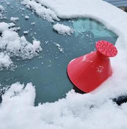 limpador de janela de carro ferramenta Desconto Janela Pá mágica Ice Limpo escova Multi-função Cone Pá Outdoor Ferramenta Car Inverno do pára-brisa Ice Scraper nova GGA2832