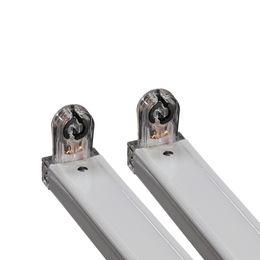 Neuer Stil. Geführte Leuchtstoff-Stützklammer der Rohr-Befestigungs-T8 mit Transparenz-faltender Kappe G13 4ft 1200mm kein Bedarfs-Ballaststarter von Fabrikanten