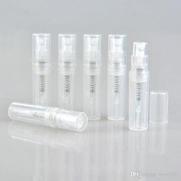 Échantillons de gel en Ligne-50PCS / lot vide 2ml 3ML 4ML 5ML mini bouteille de parfum en plastique en plastique, petit échantillon de promotion atomiseur de parfum