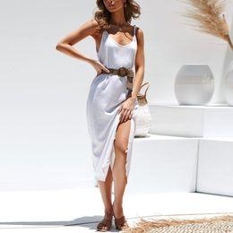 22bfa8a70cff comodi abiti estivi donne Sconti Womens V-Neck Boho Solid Lady Beach Summer  Sundrss Maxi