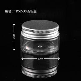 Pot en aluminium cosmétique en gros en Ligne-En gros 1000 PET 30g pot de crème en plastique avec des couvercles en aluminium, vrac pot en plastique 30g contenant cosmétique