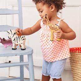 2019 i capretti di hip hop dei capretti all'ingrosso L'abbigliamento della neonata mette gli insiemi casuali dei vestiti dei bambini con gli appliques svegli 6pcs / lot dei bambini di appliques degli animali