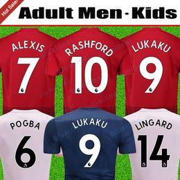 MEN and Kids set Top Thailand manchester soccer jersey 2019 united POGBA  LUKAKU LINGARD RASHFORD football kit UTD MATIC jersey 18 19 uniform 531fdcac2