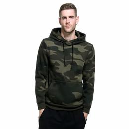 Hoodies dos homens verdes do exército on-line-Camo hoodies homens bolso militar com capuz outono inverno exército verde moletom mens fleece capuz hip hop masculino S-2XL