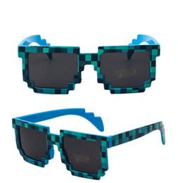 brillenpixel Rabatt Unisex Pixel Mosaic Sonnenbrille Herren Damen Grid Brille Vintageb Square Lattice Sonnenbrille Shades Trendy Hip-Pop Brille Streetwear A52906