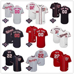 Deutschland Washington Nationals Champions Baseball Jersey Juan Soto Stephen Strasburg Ryan Zimmerman Max Scherzer Turner Anthony Rendon Männer Jugend Lady Versorgung
