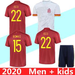 2020 kit spain MEN KIDS KIT 2020 Espanha eruo jerseys copo de futebol 2020 camisa de futebol spain Camiseta de futbol ASENSIO MORATA pé ISCO RAMOS INIESTA maillot kit spain barato