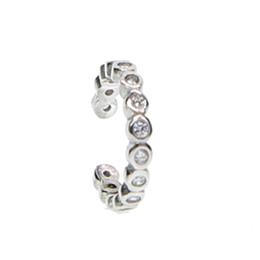 2018 New 925 Sterling Silver dainty clip boucles d'oreilles pour les femmes Fine Jewelry luxe oreille manchette Cubic Zircon usine oem étoile de mariage ? partir de fabricateur