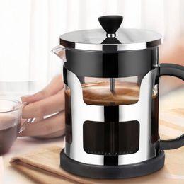 2019 filtro de vidro teapot 1000 ml Francês Imprensa Aço Inoxidável Cafeteira Criador De Vidro Do Chá Pote Com Filtro de Coador De Chá Chaleira Bules Máquina De Café filtro de vidro teapot barato