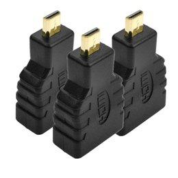 2019 placas de conexão Micro HDMI Macho para HDMI Feminino Conversor Banhado A Ouro Adaptador Conector para V1.4 Conector de Extensão de Cabo HDTV placas de conexão barato
