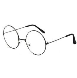 e2431629d0d Harajuku glasses frame men and women tide models ultra light decorative frame  round retro metal flat glasses Prince mirror sunglass 2019