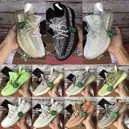 2019 sapatas de borracha pretas coreanas Homens calçados casuais Kanye West nuvem branca Citrin Lundmark Synth Antlia Preto estática reflexivos homens mulheres argila Sesame Creme Designer Shoes