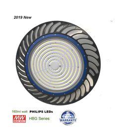 Mh hps on-line-160lm / W 2019 NOVA UFO Alta Eficiente Iluminação Dispositivo Elétrico, 200 W LED UFO Alta Bay Light, Mais do que 30000LM 800 W MH / HPS Equiv.