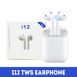 Canada i12 TWS Bluetooth 5.0 Écouteurs casque 3D Surround Écouteurs sans fil avec boîtier de charge et contrôle tactile pour téléphone Android Offre