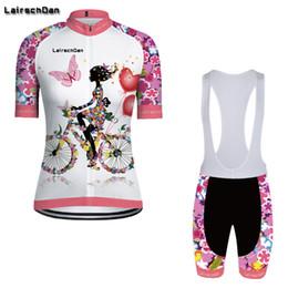 Frauen radfahren trikot kits online-SPTGRVO Lairschda2019 pink frauen enduro bike jersey set fahrrad kleidung anzug kurzarm radfahren kleidung kit sommer mtb outfit