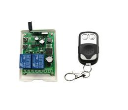 2019 12v 2ch remote DC 12 V 24 V 36 V 48 V 10A relé interruptor de Controle Remoto Sem Fio 2CH RF interruptor de aprendizagem de iluminação Universal 315 mhz desconto 12v 2ch remote