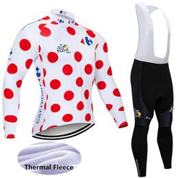 Hot Sale 2018 Tour de france Winter Thermal Fleece long sleeve bike shirts  bib Pants suit Men s Cycling Jersey outdoor sportswear Y011005 6656044df