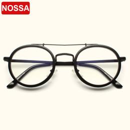 brillengestell rosa Rabatt NOSSA Vintage-Runde Glas-Rahmen Damen Herren Klassische optische Brillen-freie Objektiv-Retro Brille rosa Transparent Brillen