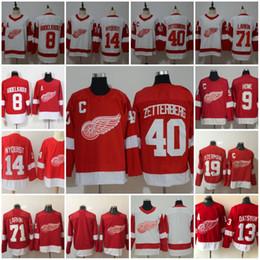 2019 camisa de ala vermelha yzerman Detroit Red Wings Jerseys Hockey 13 Pavel Datsyuk 40 Henrik Zetterberg 8 Justin Abdelkader 19 Steve Yzerman 71 Larkin 91 Sergei Fedorov camisa de ala vermelha yzerman barato
