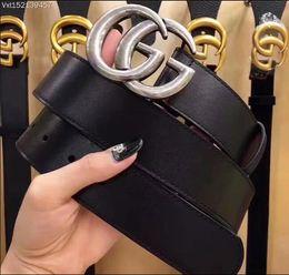 2019 fibbie di marca Il migliore nome del progettista di qualità uomini e donne alla moda della cinghia di affari della cinghia liscia di cuoio dell'inarcamento per 100-125cm degli uomini libera il trasporto fibbie di marca economici
