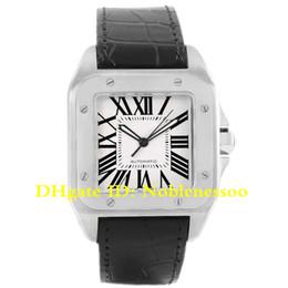 Argentina 6 relojes de lujo para hombre, estilo 100 XL, esfera plateada, acero, correa negra, reloj W20073X8 W200728G W20107X7 W200737G W20072X7 W200728, para hombres supplier xl watches men Suministro