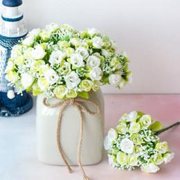 2019 алмазные вилы 21 алмазная роза 7 вилка весна маленький бутон розы моделирование цветок шелковая головка искусственный цветок семейное свадебное украшение DHL дешево алмазные вилы