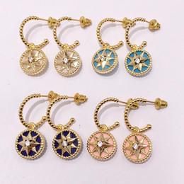 Borchie di diamante serpente di design di lusso per le donne orecchini pendenti con orecchini di perle di serpente animali strass da orecchini in oro bianco rubino fornitori