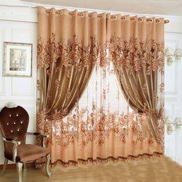 tende design per soggiorno Sconti New Luxury Europeo di Design Viola caffè tenda cucina 3d tende multicolore simpatico siparietto per Living Room Tessuti