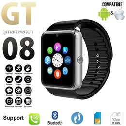 relógios inteligentes i5 Desconto Relógio inteligente GT08 Além disso Strap Metal Bluetooth Wrist Smartwatch Suporte Sim TF AndroidIOS relógio multi-línguas PK S8 Z60