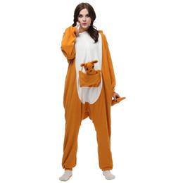 Симпатичные дешевые оранжевые кенгуру Onesies с длинным рукавом и соединенной крышкой длиной до пола с карманом AC009 от Поставщики бикини взъерошенные