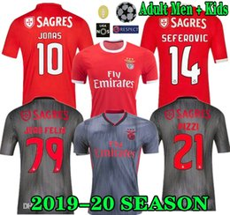 2019 jersey de futebol jones top 19 20 JOAO FELIX camisa de futebol Benfica RUBEN DIAS Camisas de futebol PIZZI RAFA JONES camisa de futebol Adulto Homens camisa de futebol desconto jersey de futebol jones