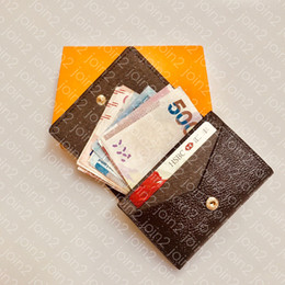 Mini bolso titular do cartão de crédito on-line-ENVELOPPE CARTE DE VISITE M63801 Designer de Moda Homens Coin Titular de Bilhete de Cartão de Crédito de Negócios Caso Chave de Luxo Organizador de Bolso Carteira N63338