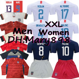 9768c3fe3 Thai quality 2019 2020 USA PULISIC Soccer Jersey 2019 DEMPSEY BRADLEY  ALTIDORE Morgan America Football jerseys United States Shirt S-XXL cheap usa  thai ...