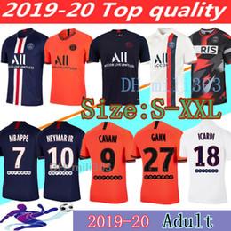 camisetas de neymar Rebajas 19 20 camisetas de fútbol PSG camiseta de fútbol MBAPPE NEYMAR JR CAVANI VERRATTI top tailandia 2019 2020 camiseta de fútbol paris SILVA Camiseta de futbol
