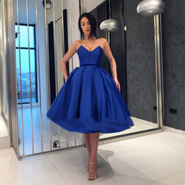 Vestidos Noche La Cortos Ruffles Gala Cóctel Hasta Rodilla De Vestido Elegantes Fiesta Royal Blue OkXwPZ8Nn0