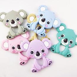 2019 baby silikon Koala Infant Teethers Kinderkrankheiten Anhänger Lebensmittelqualität Silikon Beißring Nursing Aide Schnuller Clips Baby Spielzeug Kauen Anhänger Geschenk GGA2618 günstig baby silikon