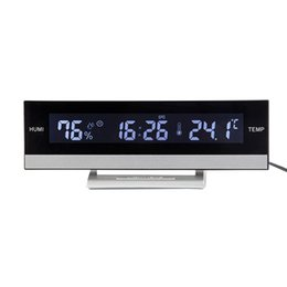 Большие часы lcd онлайн-Large Screen LCD Display Portable Home Temperature Humidity Room Multifunction Electronic Alarm Clock Backlight Desktop Digital