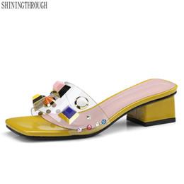 fa4484d8453b68 Frauen Sandalen Transparente High Heel Pumps Stilettos Komfort Hochzeit  Kleid Schuhe Frau Sommer Bunte Nieten Hausschuhe rosa pvc kleider  Werbeaktion