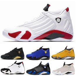 Sportschuhe 14 online-2020 Men Designer 14 14s University Rote Basketballschuhe Rote schwarze Zehe definiert Momente Zuckerstange Donner Mens Sports Trainer Sneakers