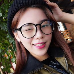 große rahmenbrillen Rabatt New Woman Retro Große runde Brille Transparent Metall Brillengestell Schwarz Silber Gold Brillen Brillengestell