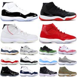 Schwarze weiße high cut sneakers online-Snakeskin 11 11s Basketballschuhe Concord Platinum Tint Männer Frauen Space Jam High XI Designer Schuhe Schwarz Weiß Athletic Sneakers