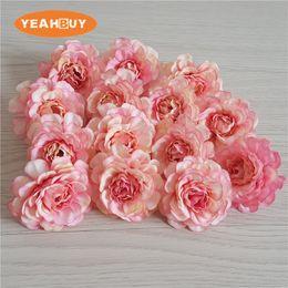 Canada 5 cm / 200 pcs Petit azalée artificielle rose pivoine tête de bricolage rhododendro fleurs de mariage mur arc guirlande guirlande décor à la maison les accessoires floraux Offre