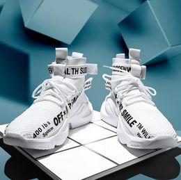 2019 tecidos livres A mais recente versão atualizada dos homens voando tecelagem sapatos Gaobang respirável trecho confortável ao ar livre calçados esportivos frete grátis desconto tecidos livres