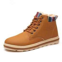 Canada 2019 super chaud hommes hiver en cuir cheville bottes hommes automne bottes de neige imperméables loisirs Martin automne hommes chaussures Offre