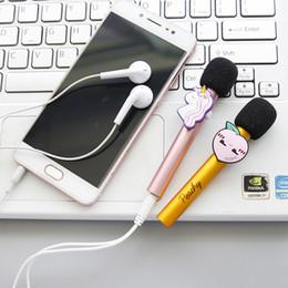 2019 estudantes de telefones celulares Personalidade bonito Dos Desenhos Animados Da Fruta Estudante Criativo Bonito Mini Microfone Ao Vivo Karaoke Telefone Móvel Conjunto de Suprimentos de Escritório estudantes de telefones celulares barato
