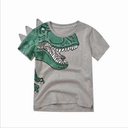vêtements enfants de marque pas cher Promotion Bébé garçon vêtements enfants garçon de bande dessinée dinosaure t-shirt tops 2019 été à manches courtes en coton animaux top Tee vêtements pour enfants Toddler bébé vêtements