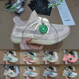 Zapatos de tenis resplandor online-Send With Box Stock X Synth Antlia Lundmark Brilla en oscuro Zapatillas Refletive Kanye West Clay para hombre Zapatillas de deporte para mujer Zapatillas de deporte Tamaño 5-13